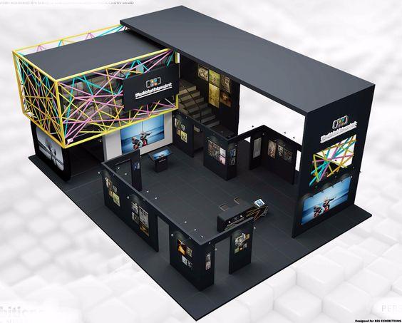 Modern Exhibition Stall Design : Adam interior design & landscape
